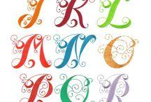шрифты, буквы