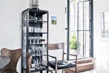 Glass metal cabinet / furniture /Witryna szklana - metalowa