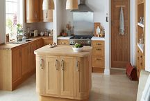 Solid Oak Framed Kitchens / A timeless classic style solid oak framed kitchen with veneered centre panel.