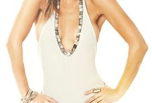 COUTURE LINE NANOTECHNOLOGY SWIMSUITS SOL / Gorgeous  Plunge Halter One- piece . At the front: Shimmery Mother pearl stones add, ties at neck.