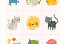 DRAWN  CATS / by Victoria Botello