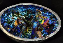 Bismuth Cyrstal & sculpture