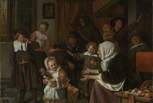 Sint-Nicolaasfeest Jan Steen / Jan Steen, Schilderij het Sint-Nicolaasfeest 1665/1668