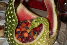 CARVING FRUITS AND VEGETABLES / by Joyce Newton