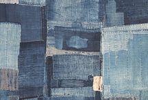 Patchwork jeans rug