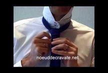 Noeud de cravate simple / Le nœud de cravate simple ou nœud simple est un grand classique des nœuds de cravate http://noeuddecravate.net/noeud-simple/