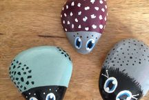 My Painted Pebbles, Rocks & Stones / These are just regular stones, pebbles & rocks that have been upcycled into quirky garden/home ornaments.