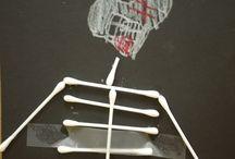 Halloween Art / Q-tip skeletton