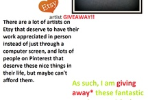 ETSY CONTEST / Doing an Etsy products giveaway!  Freebies all around!  Follow me and repin this pin to enter!
