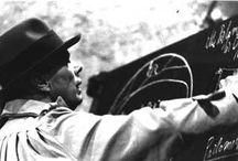 Le lavagne di Joseph #Beuys / Il complesso ''racconto'' composto da 6 grandi lavagne sulle quali il grande artista tedesco ha illustrato per immagini le sue teorie sull'arte nel corso di un incontro pubblico con Alberto Burri svoltosi il 3 aprile 1980 nei monumentali spazi della Rocca Paolina.