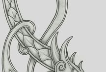 Viking dragon tattoo