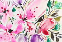 Watercolor Flowers by Joy Ting / by Joy Ting