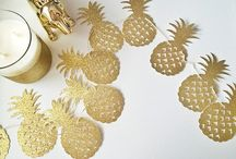 pineapple / Pineapple ideas party, diy, crafts, decor, clothes, style