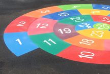 Playground Markings Board Games and Grids on Tarmac Surfaces / At first4playground we supply and install pre-formed thermoplastic playground markings to schools and local authorities throughout the UK. One of our most popular markings are number grids and playground board games which will brighten up any school play area as well as creating an outdoor learning and activity place for children of all ages to play.