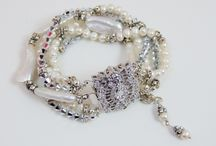 Vintage Glamour / ~Created these vintage inspired bracelets after watching a film from the 1940's.... The starlet was wearing bracelets similar to these LFK JEWELZ stacked over a white satin glove while dancing with her leading man.... Pretty irresistible! / by Lori Frantz-Koenig