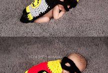Crochet twin baby boys