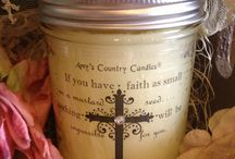 Believe Line / We have added a new line to our candle selection! Inspirational words and scripture on your favorite scents! SHOP ONLINE TODAY for the perfect gift, for yourself or a friend! www.amyscountrycandles.com