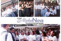 Historia Alpha Nova / Fragmentos de la historia del coro Alpha Nova del IPN en una serie de imagenes