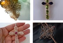 Wire crosses / Crosses made with wrapped wire