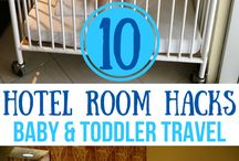 Traveling With Baby Tips / Tips, tricks and hacks for traveling with a baby.