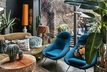 Styling blå sofa