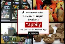 OneStopShop / All your online shopping needs now at one place! Buy #handrafted unique products only on Yappily-  the online #FleaMarket app
