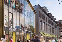 Les Promenades Sainte-Catherine / À la croisée des rues Porte-Dijeaux et Sainte-Catherine, principales artères commerciales du centre-ville de Bordeaux, le nouvel espace « Promenades Sainte-Catherine » réunira 34 enseignes échelonnées sur 3 niveaux et réparties sur 19 000 m2  de surface.  Redevco, le promoteur du futur centre commercial, a confié la réalisation de la scène d'animation 3D au studio de design Piranèse.