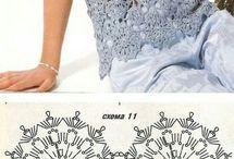 tunica croche azul acinzentado