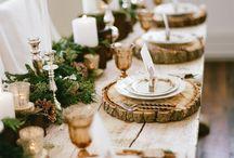 Christmas table settings elegant