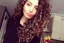 Curly bushy