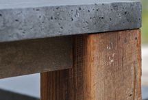 concrete and wood