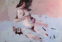 Fractured Figure / contemporary broken figurative painting
