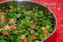 Salada / Receitas de Saladas. Saladas variadas, molho para salada