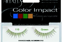 Ardell Color Impact Lashes / Ardell's biggest selling lashes are now available in color! New Color Impact eyelashes are available in 4 hues specifically selected to enhance the natural color of your eyes. Designed to bring out and define your blue, green, or brown eyes. Look flawless from any angle with captivating eyes! / by Ardell Lashes