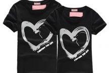 Sevgili Tshirtleri / Tshirts for couples / Sevgili kıyafetleri