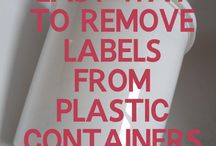 Removing labels of plastic