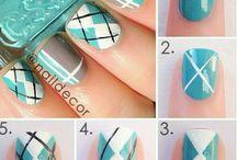 Uñas / Cuadrille - Jersey / nail art jersey uñas decoracion cuadrille
