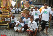 Turtle Parade / Parade of sea turtle project on Kuta beach on Bali traditional village competition.