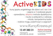 Active Kids / Kursy języka angielskiego dla dzieci od 3 do 5 lat.