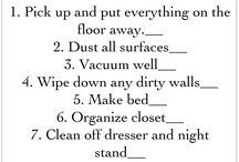 Cleaning & Home Organization