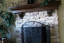 Stone Fireplaces / Custom stone fireplaces designed and built in San Diego, California.