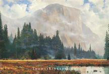 Thomas Kinkade Landscapes / Thomas Kinkade Artwork featuring beautiful landscapes and the Great Outdoors