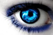 Eye blue,Gray, green