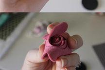 bloemen maken van stof