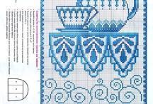 filizankowo i kubkowo- haft krzyżykowy