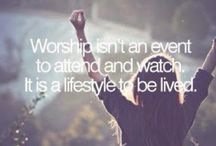 For worshipping ...