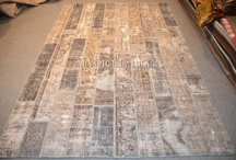 handmade patchwork - re-dyed carpet