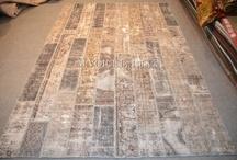 handmade patchwork - re-dyed carpet