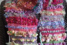 Art yarn WEAVING