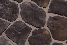 """Fieldstone: Dutch Quality / These rustic textures and unique stones look like they were pulled straight from the countryside. But our Fieldstone style is actually the result of a time-consuming molding process resulting in natural organic shapes. Sizing: Smallest: 5"""" / Largest: 22"""""""
